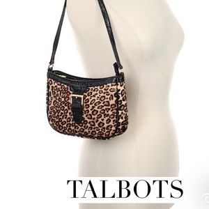 Handbags - Talbots Leopard Print purse like new condition